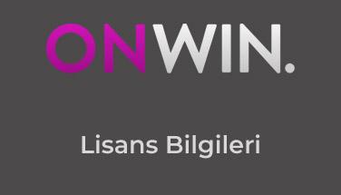 Onwin Lisans Bilgileri